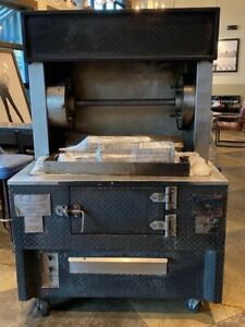 J r Milano Combi Broiler 1916 48 Gas Rotisserie Solid Fuel Grill Excellent