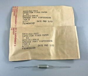 Lot Of 2 Sprague Electric 118p33302s4 Fixed Metallized Paper Capacitor 200vdc