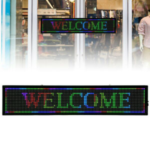 Rgb 7 color Led Sign Programmable Scrolling Advertising Message Display Board Us