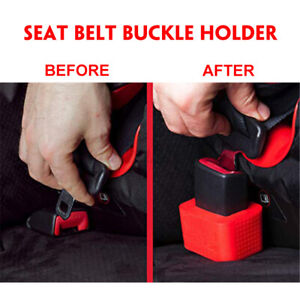 Car Seat Belt Buckle Holder Card Slot Bracket Retainer Auto Extension Extender