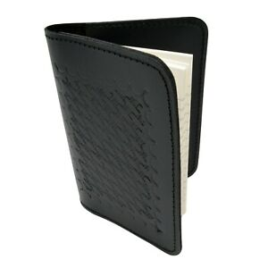 Police Leather Book Style Memo Book Cover 3x5 Pocket Notebook Basketweave Case