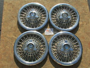 1965 1966 Ford Mustang Galaxie 500 15 spinner Wheel Covers Hubcaps rare