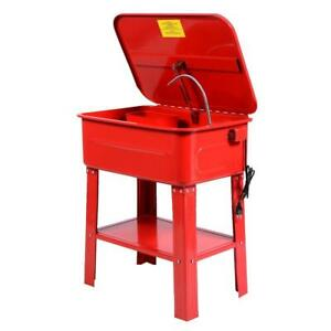 20 Gallon Electric Solvent Pump Automotive Parts Washer Heavy Duty Steel Red
