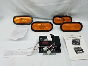 4 Oval Strobe Lights With High Voltage Power Supply New In Box Snow Plow Utility