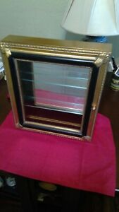 Wood Jewelry Display Case With Window And Glass Mirror With Door