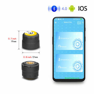Motorcycle Tpms Bluetooth Tire Pressure Monitoring 2 Sensor For Android Ios