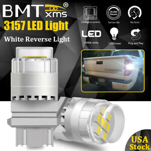 White 3157 3057 Led Reverse Backup Light Bulbs For Dodge Ram 1500 2500 3500