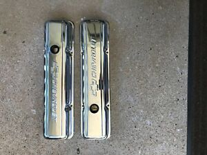 Chevy Small Block Chrome Valve Covers Baffled Used
