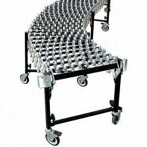 13d473 Skate Wheel Conveyor Expandable Flexible 200lb ft Load Capacity New