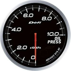Defi Df10201 Oil Pressure Gauge New