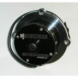 Meziere Wp105shd Water Pump Electric 100 Series 42 Gpm Billet Aluminum Black New