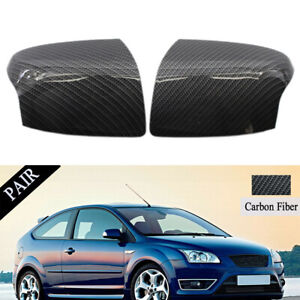Wing Door Mirror Cover Replacement Carbon Fiber Style For Ford Focus 05 08 Cap