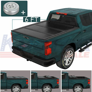 Hard Solid Tri Fold Tonneau Cover 6ft Short Truck Bed For Toyota Tacoma 05 18