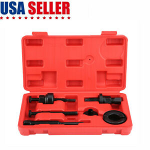 6x Power Steering Pump Pulley Kit Puller Remover Installation Tool Set For Ford