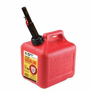 Midwest Can 2310 High Density Polyethylene Gas Can With Spout Red 2 Gallon