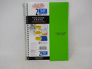 Five Star Spiral Notebook 2 Subject College Ruled Paper 100 Sheets 9 1 2 X