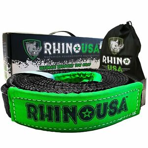Rhino Usa Recovery Tow Strap 2in X 20ft Lab Tested 20 024lb Break Strength