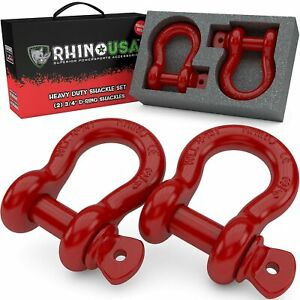 Rhino Usa D Ring Shackle 2 Pack 41 850lb Break Strength 3 4 Shackle With