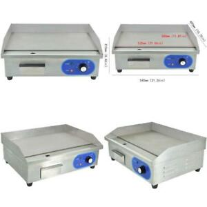 Dulong Commercial Electric Griddle Flat Top Grill Hotplate Kitchen Countertop Gr