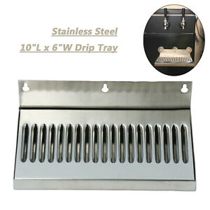 Draft Beer Drip Tray Wall Mount Stainless Steel No Drain 10 X 6 Easy Clean