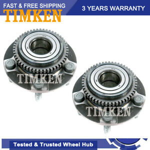 Pair Set Of 2 Front Wheel Bearing Hub Assy Timken For Ford Mustang Rwd 94 04