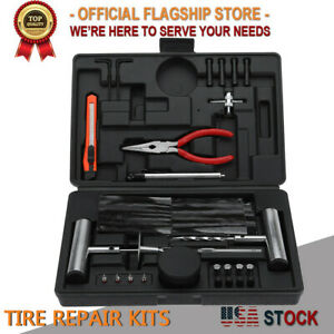67pcs Flat Tire Repair Plug Tools Kit Heavy Duty Universal For Jeep Atv Tractor