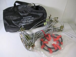 Pair Of Tire Tensioner Cables Snow Chains 195 75 R14 Diamond Diagonal Pattern