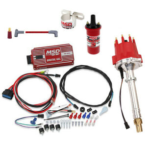 Msd 85501 Chevy Pro Billet Distributor Ignition Kit 6425 31229