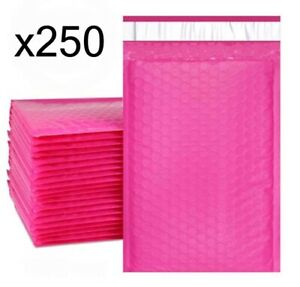 250 Bubble Mailers Pink 6x10 Packaging Shipping Supplies 0