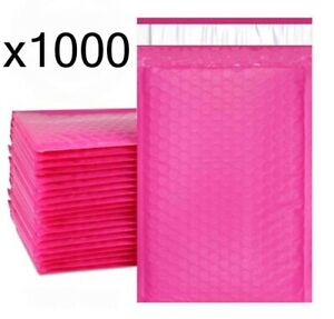1000 Bubble Mailers Pink 6x10 Packaging Shipping Supplies 0