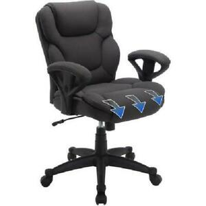 Manager Office Chair Gray Mesh Fabric Big Tall Executive Computer Desk High Back