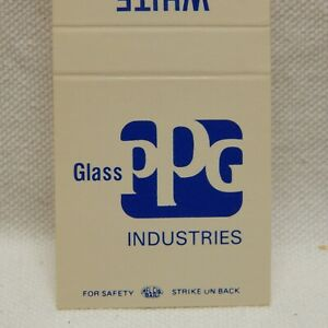 Matchbook Ppg Glass Industries White Glass Co Wi Front Strike