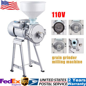 2200w Electric Mill Machine Corn Grain Wheat Cereal Feed Dry Wet Grinder funnel