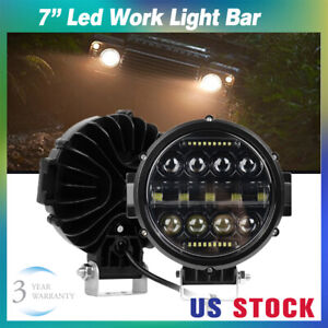 7 Inch Round Led Work Lights Off Road Drl Combo For Jeep Bumper Truck Boat 4wd