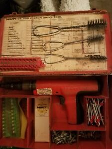 Hilti Dx350 Power Actuated Tool With Case Extras Properly Cleaned And Tested