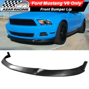 Fits 10 12 Ford Mustang V6 Coupe S Style Front Bumper Lip Spoiler Pu