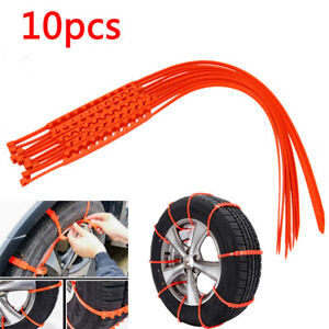 10x Car Van Truck Snow Mud Anti Skid Wheel Tire Chains For 195 To 295 Tire Width