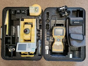 Topcon Gpt 9005a Robotic Total Station W Fc 2500 Data Collector