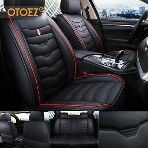 Luxury Leather Car 5 Seat Cover Front Back Bench Full Set Waterproof Universal