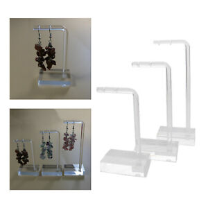 3xclear Acrylic Earring Display Stand Holder Rack Jewellery Storage Holder