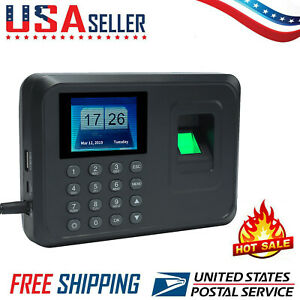 Lcd Check In Time Clock Fingerprint Biometric Password Attendance Machine W5d4