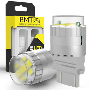 2x 3157 4114 4157 Led Drl Revers Backup Daytime Running Light Bulbs 6000k White