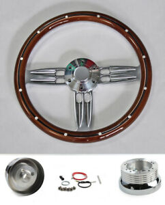 1967 Oldsmobile Cutlass 442 Delta 14 Mahogany Double Barrel Steering Wheel