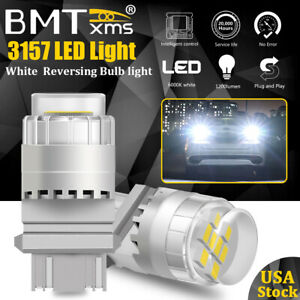 White 3157 3156 3457 4157 Led Backup Reverse Tail Brake Turn Signal Light Bulbs