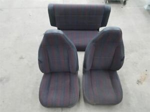 Jeep Tj Wrangler Oem Driver Passenger And Rear Seat Set Agate 1997 2002 28644