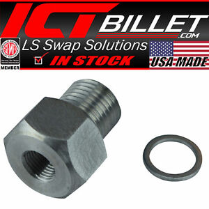 Ls Engine Swap M16 1 5 Adapter To 1 8 Npt Oil Pressure Sensor Gauge Ls1 Lsx Ls3