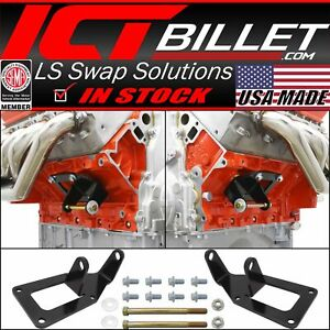 1975 1987 Sbc To Ls Swap Engine Mount Steel Clamshell Bracket Motor Conversion