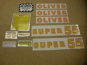 Oliver Super 55 Gas Tractor Decal Set New Free Shipping