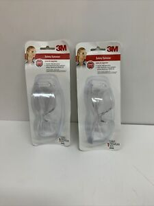 3m Clear 47040 Wraparound Safety Glasses New Lot Of 2