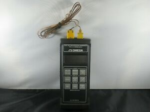 Omega Model Hh22 Mocroprocessor Thermometer Type J k Thermocouple Free Shipping